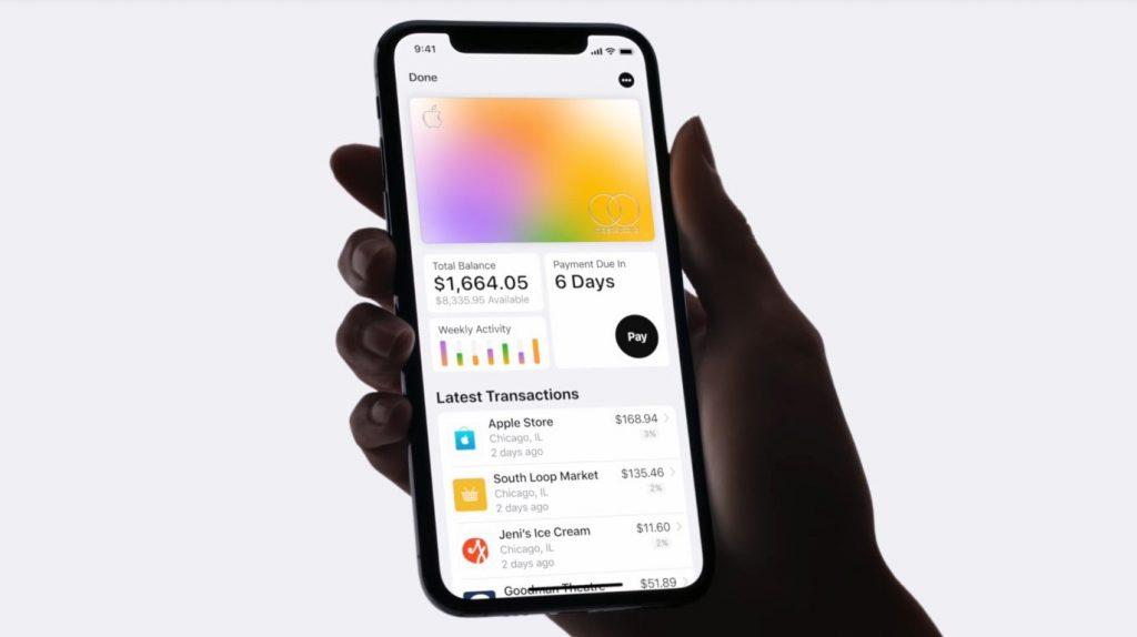 Gastos en colores en Apple Card