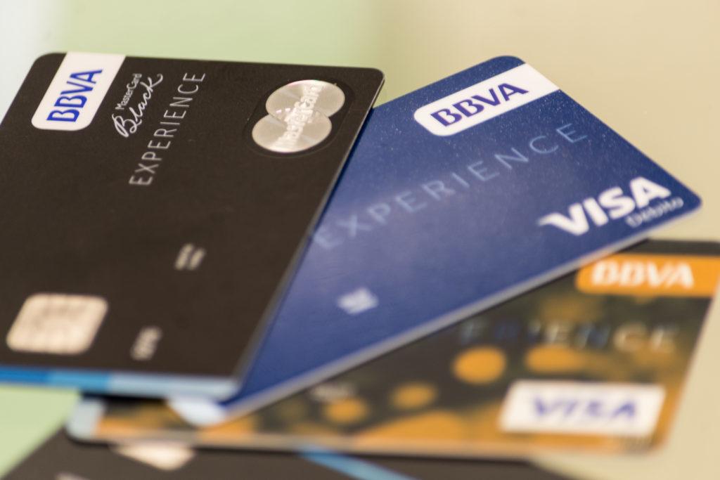 Trajetas de crédito del BBVA Gaia Servicios