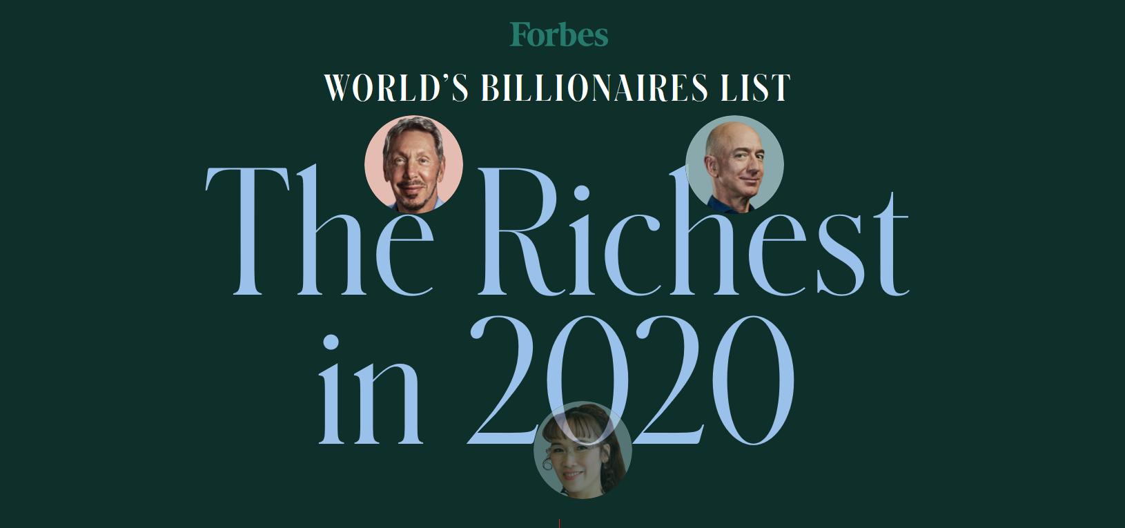 La lista de los hombres más ricos del mundo según la revista Forbes