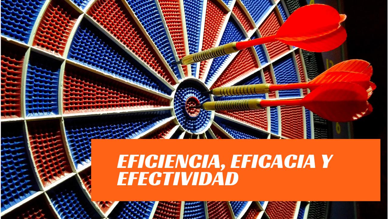 Diferencia entre eficiencia eficacia y efectividad